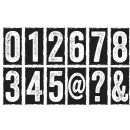 CMS223 Stampers Anonymous Tim Holtz Cling Mounted Stamp Set - Big Number Blocks